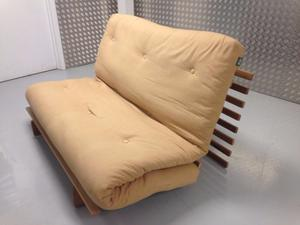 Futon Company Sofa Bed Solid Wood Base+Thick Sofabed Mattress VGC. Cost £549. (Can Deliver)