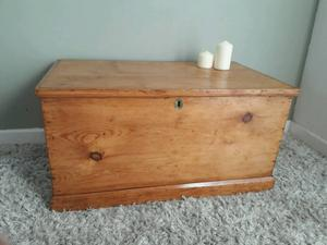 Beautiful Victorian Solid Pine Blanket box/ chest
