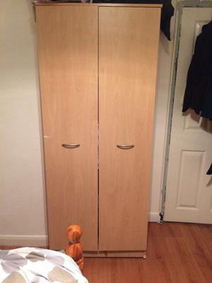 Pine wardrobe, 5 drawer chest of draws and 3 drawer chest of draws. Good condition.