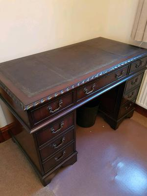Antique mahogany desk with drawers
