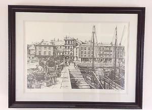Plymouth Barbican, Peter Goodhall stunning limited edition Lithograph.