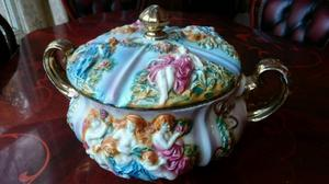 Vintage Tureen Ceramic Made in Italy Capodimonte Antique
