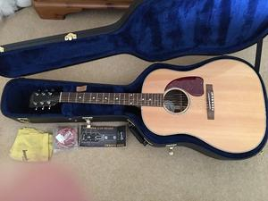 Gibson J-15 Electro Acoustic inc Gibson Case and Paperwork.