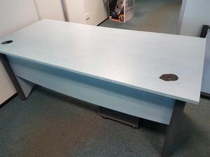 mm office desk with matching pedistal