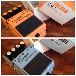 Boss Guitar Effects Pedals - Distortion & Chorus