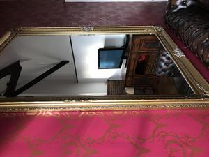 Extra large gold effect framed mirror 7ft x 5ft