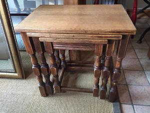 Old oak nest of tables