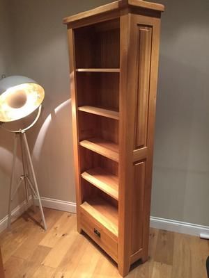Solid Oak Tall Bookcase/Shelving