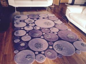 Contemporary Large Rug by Ligne Pure in purple 240cm X 170cm. In excellent condition