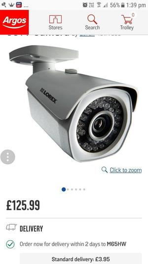 Lorex Camara Brand new in box looking for around £90 bought from argos at £125