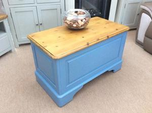 Lovely Painted Pine Blanket Box / Toy Chest