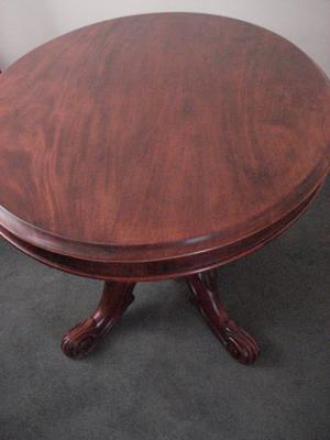 ANTIQUE MAHOGANY VICTORIAN TILTING LOO TABLE