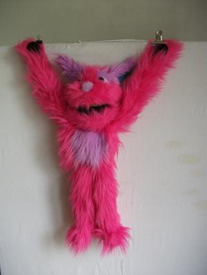 PINK MONSTER PUPPET - BY THE PUPPET COMPANY.