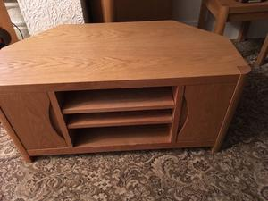 Solid Oak television stand as new no marks at all. The same unit in Shaws St.Helens over £600
