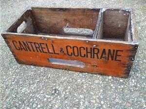 Cantrell and Cochrane engineering crate, approximately 1ft x