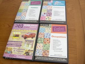 Crafters Companion set of 4boxed CD Rom for card making