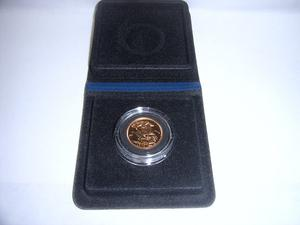 Queen Elizabeth II Proof Gold Sovereign + Capsulated within Case