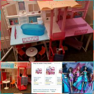 .The Barbie 3-Story Townhouse is home to so many storytellin