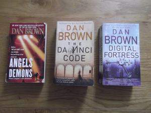 3 Dan Brown paperbacks - Angels & Demons, Da Vinci Code and Digital Fortress