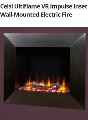 Celsi ultiflame electric wall mounted fire
