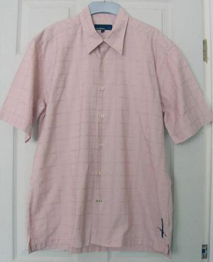 GORGEOUS MENS PINK SHIRT BY DUCK AND COVER - SZ XL B20