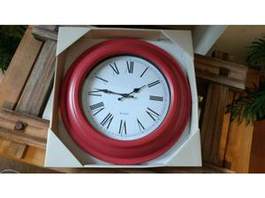 Lovely red wall clock, new and still boxed in Norwich