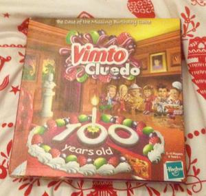 VIMTO CLUEDO THE CASE OF THE MISSING BIRTHDAY CAKE 100 YEARS OLD. COMPLETE VGC.