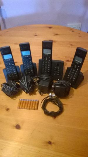set of 4 doro cordless house phones with answering machine