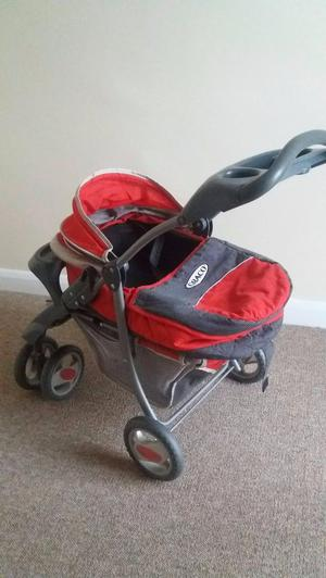 toy Graco pram with high chair, cot, stroller, moses basket