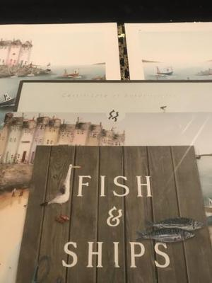 Rebecca Lardner - fish & ships signed book prints