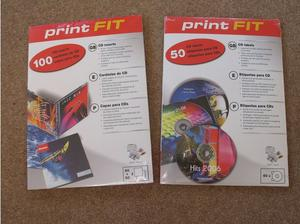 100 Print Fit CD Inserts for Inkjet or Laser printer. 140gsm