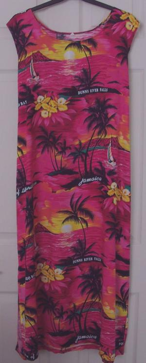 GORGEOUS LADIES LONG CARIBBEAN STYLE DRESS - SZ XL B10