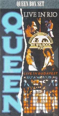 Queen Box Set Live Rio Live in Budapest We Will Rock You VHS