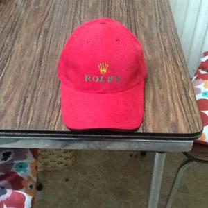 Rolex red baseball cap front green logo new one size