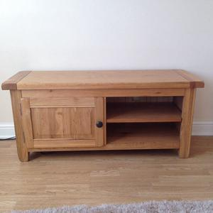 Solid oak wood tv cabinet