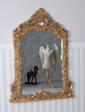 Baroque Mirror Gold Wall Antique Glamour Castle