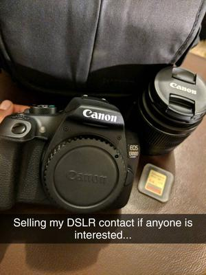 Canon D with  mm lens