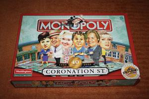 MONOPOLY Coronation Street Board Game - Complete set fun for family English Full set, good condition