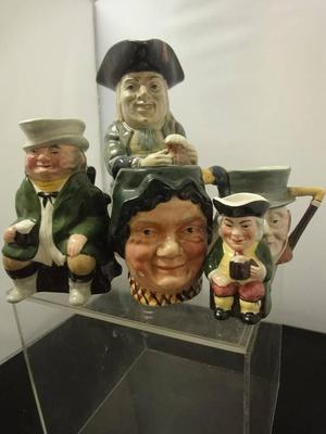 Toby Jug Collection features Beswick,Sterling,Sylvac (5pcs)