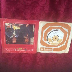 DAVID BOWIE singles X 2 PEACE ON EARTH AND LAUGHING GNOME