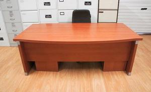 Bow front rosewood managers office desk