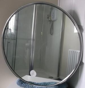 Large Bathroom Mirror with Chrome Surround NEW