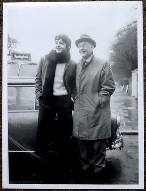 Paul McCartney & his Father Org Press Photograph 6 x8 inches