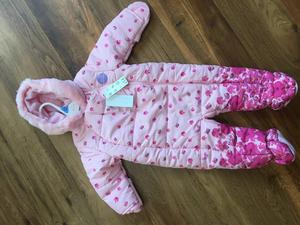 Pink flower pramsuit
