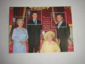 Stamp Sheet of UK Royal Family - 2 Queens & 2 Heirs- MINT!