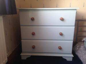 Chest of draws in duck egg blue