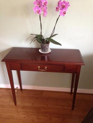 Hall Table solid wood mahogany 1 drawer good condition