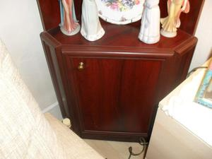 Mahogany colour Corner Display Cabinet cupboard