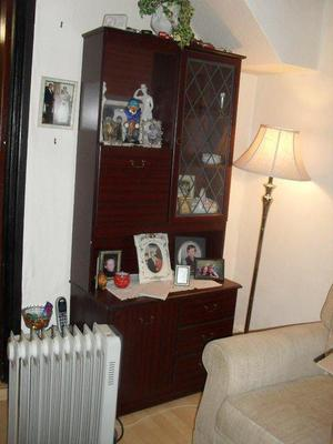 Mahogany colour Display Cabinet with light - compact