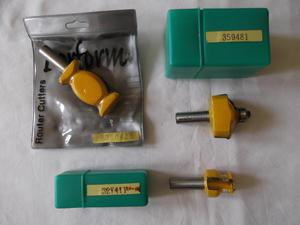 3 new, wax-sealed PERFORM 1/2inch TCT router cutters - in